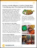 Visitors at Theme Park Spend More Time Playing, Less Time Waiting for Food with LRS Pagers