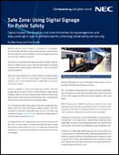 Safe Zone: Using digital signage for public safety