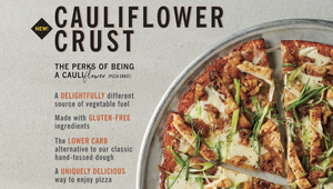 California Pizza Kitchen goes for Cauliflower Pizza (K)rust nationwide