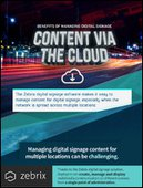 [INFOGRAPHIC] Benefits of Managing Digital Signage Content via the Cloud