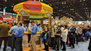 Vienna Beef is always a popular spot for samples at NRA.