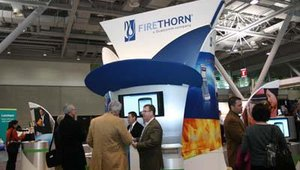 The Firethorn booth.