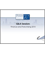 Pizza Summit 2010 Finance and Franchising