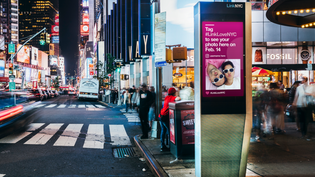 LinkNYC invites Valentine's Day marriage proposals, love Instagrams