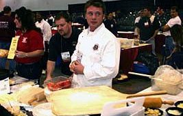 Jake Bertch was a contestant as well. The event was the gourmet pizza component of the North American Pizza Pizzazz competition.