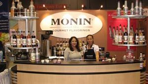 Jacqueline Hernandez and Melanie Pas manned the Monin Gourmet Flavorings booth during the NRA Show. Monin showcased its new Monin Fruit Purees product available in peach, raspberry, mango, wildberry, banana, superfruit and strawberry.
