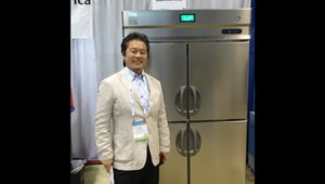 Nobu Kimoto presents a temperature control solution from SandenVendo America.