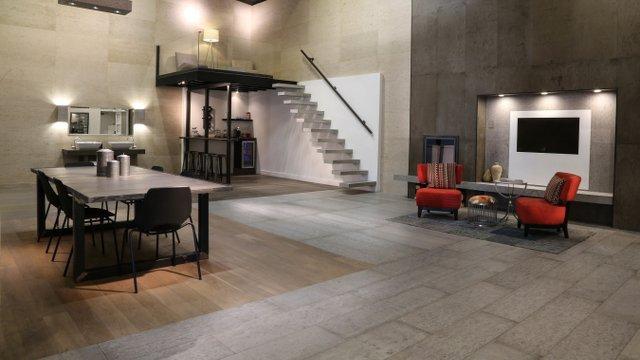 Concrete Floor Planks Dazzle with New Colors