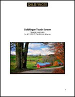 """43"""" Touch Screen LED/LCD Monitor User Guide Manual"""
