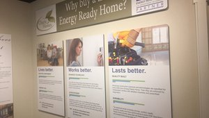 """Charis uses """"learning centers"""" to help buyers learn more about DOE Zero Energy Ready Homes."""
