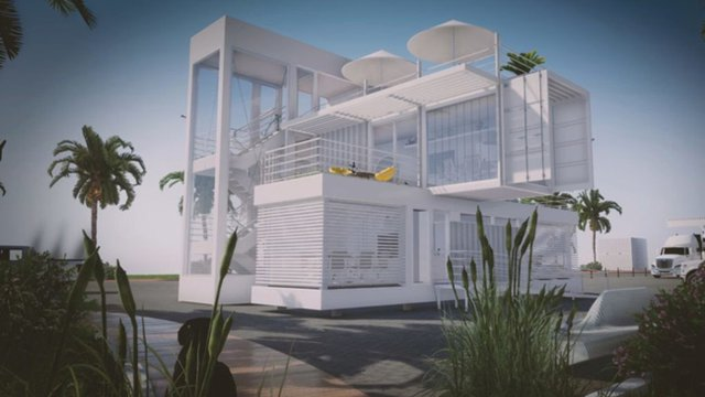 Solar Powered Miami Office To Be Made Of Repurposed Shipping Containers
