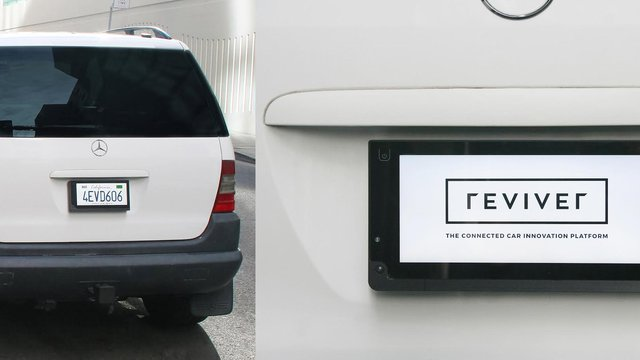 Digital signage powers license plates