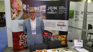 Frank Dasaro presents Sbarro franchise opportunities to casino operators.