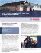 Bosch Products Installed in Long Island Home for Hurricane Sandy Victims