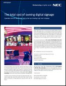 The Total Cost of Owning Digital Signage