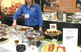 Julie Warner talked about Rosina food products, including meatballs and stuffed shells.