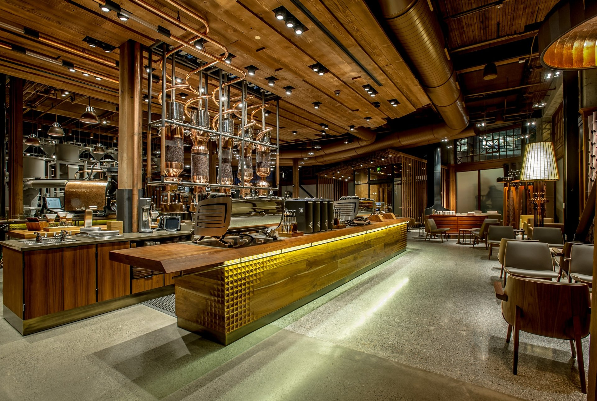 A peek inside Starbucks' first Reserve Roastery and ...
