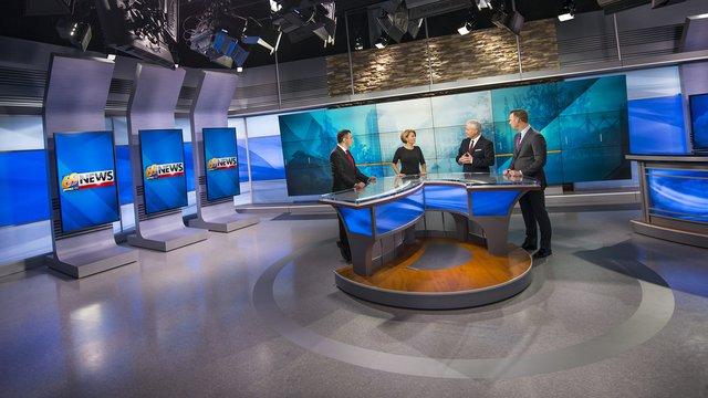 Broadcast studios deliver news with digital signage