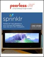 Case Study: Sprinklr Installs Peerless-AV® Video Wall Mounts