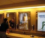 Digital signage goes to the bathroom
