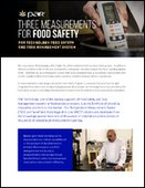 Three Measurements for Food Safety
