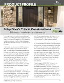 Entry Door's Critical Considerations