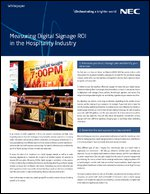 Measuring Digital Signage ROI in the Hospitality Industry