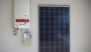 This home's solar electric system generates more than $2,000 per year for the homeowner.