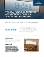 Yorkdale Catches Shoppers' Attention with Cineplex 'Functional Art of Time'