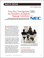 Four Key Touchpoints for Resellers of Digital Signage Solutions