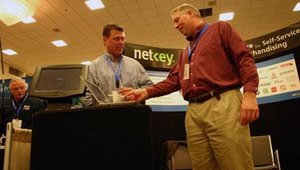 Executives from Netkey were on hand to tout the benefits of the latest version of its kiosk and signage management software suite, Netkey 6.5.