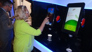 Customers serve themselves PepsiCo Spire beverages at a food truck called NSpire the company uses at special events.