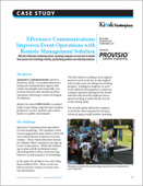 XPerience Communications Improves Event Operations with Remote Management Solution