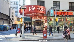 The first U.S. Pie Face location opened in January next to the Ed Sullivan Theater in Manhattan.