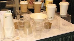 Vegware's cups and lids include starch-lined hot-drink cups with fully compostable lids.