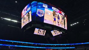 LED display system, see-through display installed at T-Mobile Arena