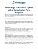 Three Ways to Maximize Uptime with a Consolidated Parts Program