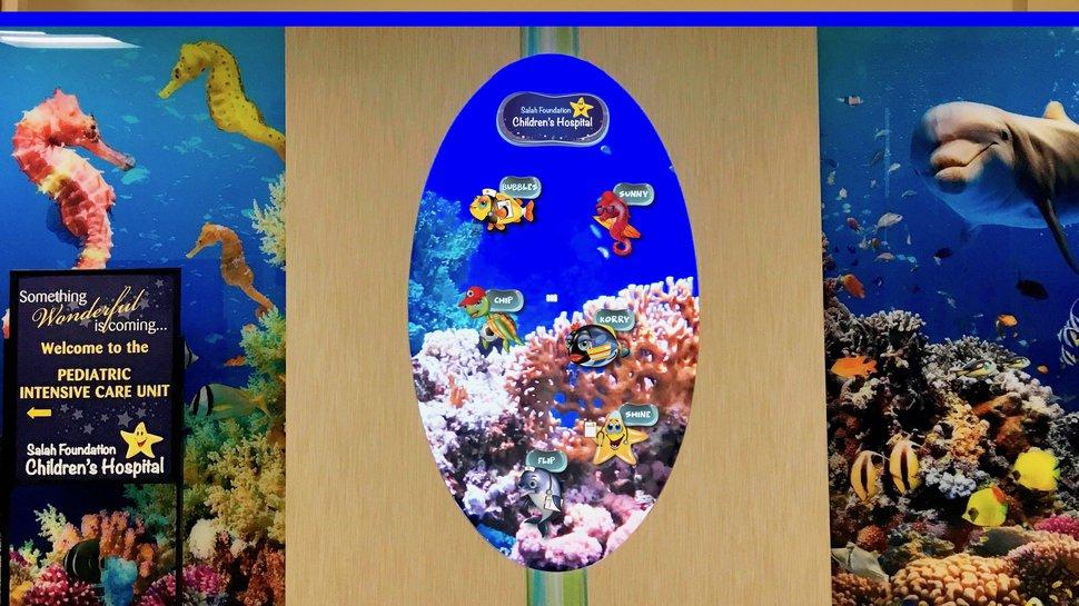 Intermedia Touch creates digital interactive aquarium for Salah Foundation Children's Hospital