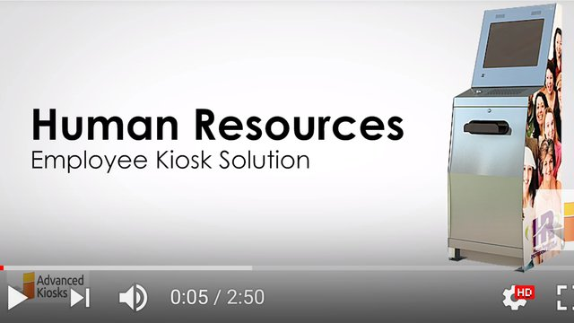 Advanced Kiosk video summarizes HR kiosk for improving employee self service