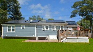 <p>The south-facing roof was prime real estate for the solar PV system and solar water heater.</p>