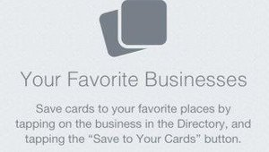 A simple tap on a businesses Square listing puts it into a user's favorites page.