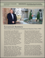 ClimateMaster Oklahoma City Geothermal Systems Builder Profile - Savannah Builders