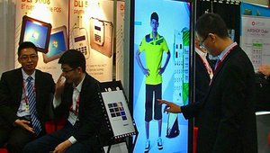 Seewo showcased digital signage and kiosks.
