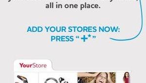 "An ""add store"" screen helps users organize offers, kicks, etc."