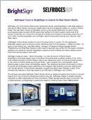 Selfridges Turns to BrightSign to Launch its New Denim Studio