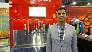 "Mehdi Khan presents the ""Plug & Pour"" beer wall for restaurants."