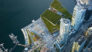 Spectacular green roof tops Vancouver's double LEED platinum convention center