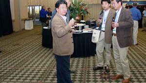 The show floor offered ample space to imbibe, examine exhibits or simply talk among colleagues.