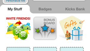"""Users can earn free stuff by collecting """"kicks"""" and store them with Shopkick."""