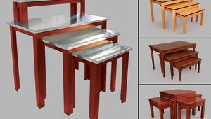 Add high-end appeal to displays with new wood nesting tables